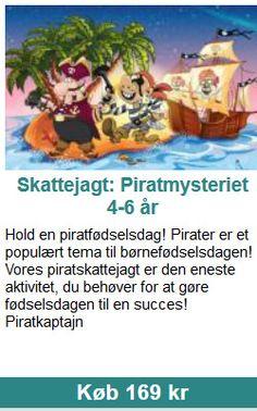 Skattejagt: Piratmysteriet 4-6 år Hold en piratfødselsdag! Pirater er et populært tema til børnefødselsdagen! Vores piratskattejagt er den eneste aktivitet, du behøver for at gøre fødselsdagen til en succes! Piratkaptajn Winnie The Pooh, Disney Characters, Danish, Holland, The Nederlands, Winnie The Pooh Ears, Danish Pastries, The Netherlands, Netherlands