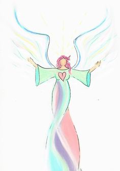 Cassandra Get your own intuitive angel drawing from www.angelsco.nl ♥