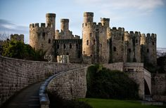 Conwy Castle on the north coast of Wales.