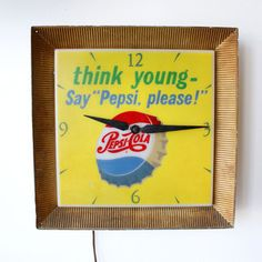 Pepsi Advertising Clock now featured on Fab.