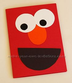 Elmo Birthday Party Invitations tutorial