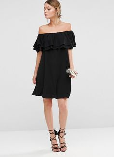 Off-the-Shoulder Ruffle Dress, $30
