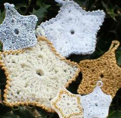 Christmas Star Free Crochet pattern for instant download.