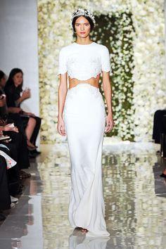15 Cool-Girl Wedding Looks For The Alternative Bride #refinery29  http://www.refinery29.com/bridal-fashion-week-trends#slide2   Reem Acra
