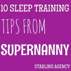 10 sleep training tips from Supernanny Jo Frost #sleeptraining #nannylife #nanny #supernanny #sleeptips
