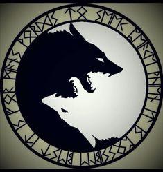 New tattoo designs wolf yin yang Ideas Wolf Tattoos, Body Art Tattoos, New Tattoos, Sleeve Tattoos, Arabic Tattoos, Animal Tattoos, Fenrir Tattoo, Norse Tattoo, Viking Tattoos