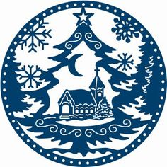 Tattered Lace Christmas Dies Snowglobe