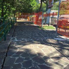 Rischio frana a Montesilvano Colle chiuso un tratto di marciapiede