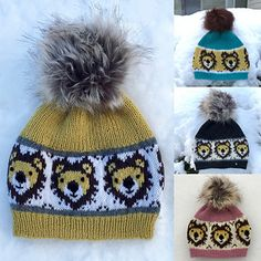 Løvelue i sisu pattern by Marianne Olsen Olsen, Winter Hats, Pattern, Design, Caps Hats, Threading, Model, Design Comics, Patterns