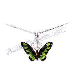 Beautiful Zarah Rajah Brooke's Birdwing Necklace (love the green and black colors together)