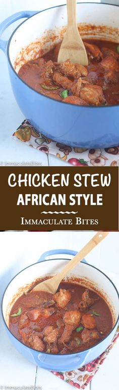 African Chicken Stew and Coconut Rice - Immaculate Bites African Chicken Stew- A stew like no other. Easy, Aromatic and Flavorful . Great weeknight meal. Paired with Savory Coconut Rice