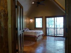 Master Bedroom on the third story. A treehouse sanctuary