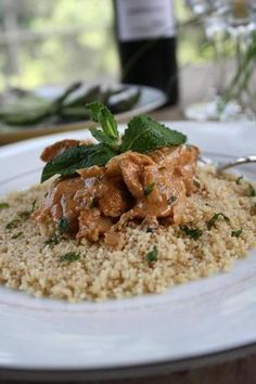 Spicy Moroccan Chicken (contains dijon mustard, tomato paste, harissa or cayenne pepper, cloves, fresh mint, heavy cream)