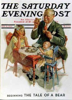 Saturday Evening Post - 1933-02-18: Tea for Grandpa (C. Gager Phillips)