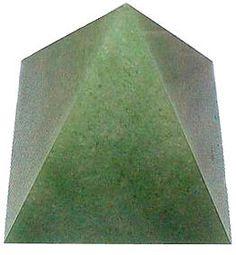 Aventurine Gemstone Pyramid draws it $ to me.