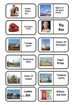 landmarks flashcards printables - Buscar con Google