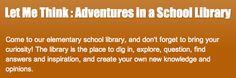 Great Website for Book Ideas, etc. Education Middle School, Elementary School Library, School Libraries, School Tool, Elementary Education, Teacher Librarian, Teacher Blogs, Library Lessons, Library Ideas