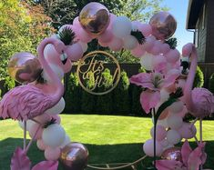 Ready Beautiful Metal set for your party or baby shower Luau Theme Party, Pool Party Decorations, Birthday Balloon Decorations, Decoration Table, Ceremony Decorations, Flamingo Birthday, Flamingo Party, Tropical Party, Round Arch