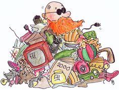 Kierrätyskampanja, TVO. Piirros: Henna Engren