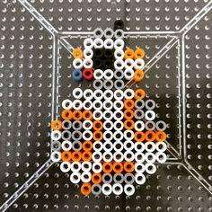 BB-8 Star Wars VII perler beads by squirrelybitz