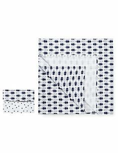 2 Pack Large Robot and Star Muslin Cloths 120 x 120cm 100% cotton
