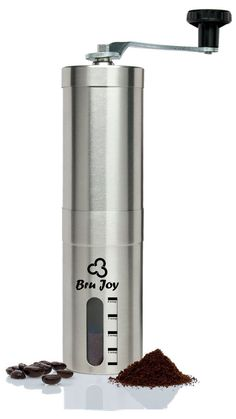 Use Bru Joy's ceramic burr and stainless steel coffee grinder to get your coffee beans into your desired fineness easily.