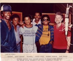 """vallieegirl67: This photo shows Arne Frager with Michael Jackson in 1983, at a session for Rockwell's """"Somebody's Watchin' Me"""" - which reached #1 on the Billboard charts. Source: Plant Studios"""
