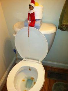 Elf goes fishing lol