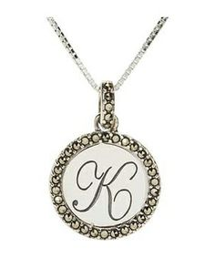Judith Jack Neck 16/18 in Initial K Pendant Necklace #accessories  #jewelry  #necklaces  https://www.heeyy.com/suggests/judith-jack-neck-1618-in-initial-k-pendant-necklace-silver/