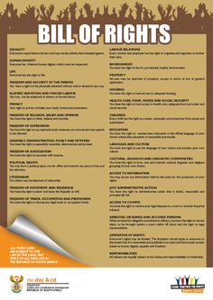 South African Bill of Rights on Pinterest | Bill Of Rights, The South ...