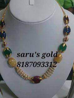 Fehbdodie Fancy Jewellery, Ruby Jewelry, Gold Jewellery Design, India Jewelry, Bead Jewellery, Pendant Jewelry, Beaded Jewelry, Chain Jewelry, Beaded Necklace Patterns