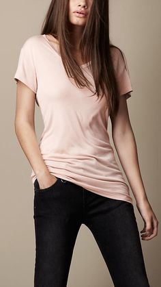 Burberry Brit Oversize Jersey T-shirt-- love the color