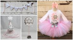 Winter Onederland Tutu Outfit and Photo Prop Set Party
