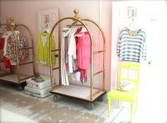 A closet?!? Sooo cute. I work in hospitality so I love this idea.