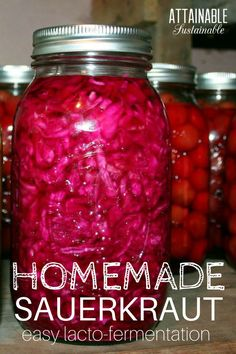 This homemade sauerkraut recipe is so easy to make. It's a great way to delve into fermentation as a method of food preservation on your little homestead.