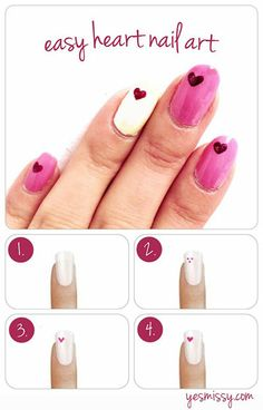 DIY nails for valentines