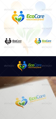 Eco Care Natural & Wellness - Logo Design Template Vector #logotype Download it here: http://graphicriver.net/item/eco-care-natural-wellness-logo-design/6511436?s_rank=341?ref=nexion