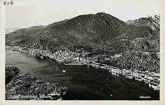 Ketchikan Alaska AK 1940s Aerial City View Real Photo Antique Vintage Postcard