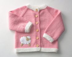 Lovely hand knit baby girl sweater with dun and cloud applique. Perfect for spring/autumn season or cold summer evenings. Made with love! Yarn: High quality merino wool Care: Handwash Every item from Tutto is HAND knit and MADE TO ORDER. You can choose the colors, size and design as you wish. Write to me and I will help You with advice!!! _____________________________________________ Policies: Shipping Items are shipped as soon as payment is received. All items are HAND knit and MAD...