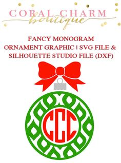 Fancy Monogram Ornament Frame File for by CoralCharmBoutique