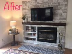 Full size of off center fireplace design ideas wall winsome entertainment around with media of room Off Center Fireplace, Fireplace Tv Wall, Brick Fireplace Makeover, Faux Fireplace, Fireplace Remodel, Fireplace Design, Fireplace Ideas, Living Room Designs, Living Room Decor