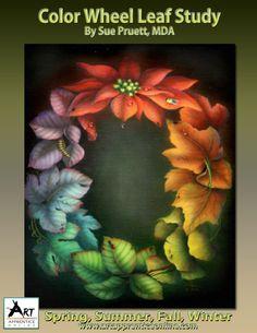 Art Apprentice Online - Acrylic Downloadable Painting Pattern - Color Wheel Leaf Study by Sue Pruett, MDA, $15.00 (http://store.artapprenticeonline.com/acrylic-downloadable-painting-pattern-color-wheel-leaf-study-by-sue-pruett-mda/)