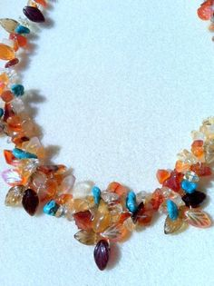 Fall Leaves Necklace by Originalsbydenise on Etsy, $50.00