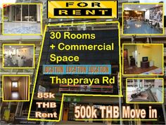 Amazing basic style 30 room hotel guesthouse for rent with ground floor reception / restaurant, located main road front with 10 Baht Bus in front, 5 minutes in Walking Street, rent 85,000.00 THB with 3 months deposit, 500,000.00 THB and move in now, aA superb high season secured.  Call Marc 0800 176 100, here are the details: http://businessforsalepattaya.com/30-rooms-guesthouse-rental/