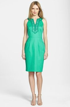 Adrianna Papell Embellished Sheath Dress available at #Nordstrom