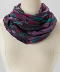 Take a look at this Purple Dot Infinity Scarf by Rapti on #zulily today!