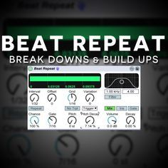 Learn how to use Ableton Live's beat repeat audio effect to created break downs (downshifter) & build ups (riser) with elements from you projects!