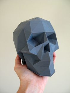 5.1 Low Poly Skull - SkullsForChange - Cults TOP 10 3D Printed Skulls #3D #3Dprint #3Dprinting