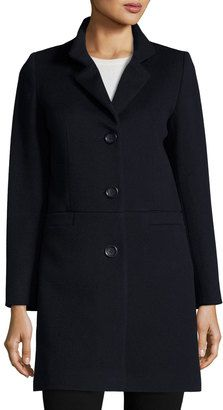 Shop Now - >  https://api.shopstyle.com/action/apiVisitRetailer?id=542167274&pid=2254&pid=uid6996-25233114-59 Cinzia Rocca Wool-Blend Long Coat, Navy  ...