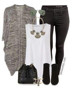 Plus Size Cocoon Cardigan Outfit - Plus Size Fashion for Women - alexawebb.com